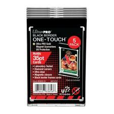 5x Ultra PRO One-Touch 35pt BLACK BORDER Magnetic Card Display Holder Protector