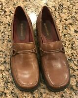 Women's Naturalizer Brown Leather Slip On Shoes Size 7 1/2