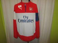 "FC Arsenal London Original Puma Fleece Zipper/Jacke ""Fly Emirates"" Gr.M Neu"