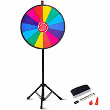 """24"""" Editable Dry Erase Color Prize Wheel Extension Base Fortune Spinning Game"""