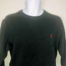 Polo Ralph Lauren Sleepwear Mens Shirt Sz M Black Long Sleeve Scoop Waffle Mv26