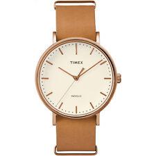 Orologio Timex TW2P91200 pelle marrone classico ramato moda uomo weekender