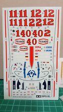 Tamiya 1/20 McLaren M23 decal sheet, transfer stickers and mirror transfers