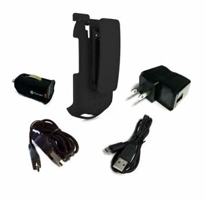 Kyocera DuraXV DuraXV Plus Holster with Swivel Belt Clip and Power Pack Combo