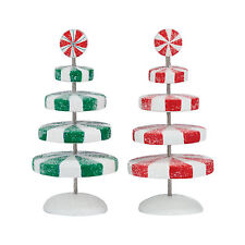 Department 56 Peppermint Christmas Trees 4047577 NEW 2015 D56 Village Accessory