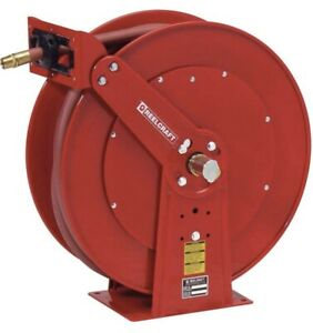 """Reelcraft D84050 OLP Heavy Duty 1""""ID X 50' 250 Psi Hose Reel WITH HOSE"""