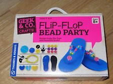 Flip-Flop Bead Party Geek & Co. Kids Craft Kit Thames & Kosmos Funky Flip Flops