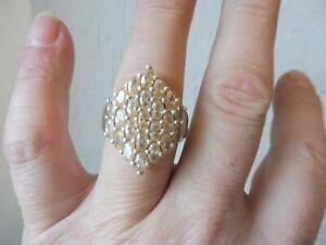 schöner, alter Ring , 925 Silber mit geschliffenen Steinen  , Ricarda M , Gr. 66