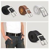 Men's Genuine Casual Leather Dress Belt Pin Buckle Waist Strap Belts Waistband
