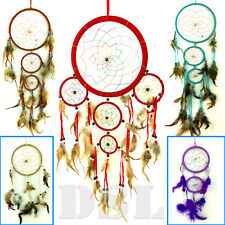 Dream Catcher Nylon Feather Handmade American Indian Dreamcatcher 4Size✔6Colour✔