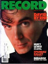 Record Magazine February 1984 Issue David Byrne Cover