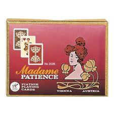 Piatnik 202643 - Patience Madame, 2 x 55 Blatt, Kartenformat 44 x 66 mm