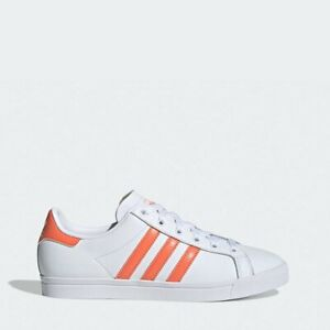 ADIDAS WOMEN'S COAST STAR SHOES STYLE#EE6202 WHITE/CORAL/WHITE SIZE 5-9
