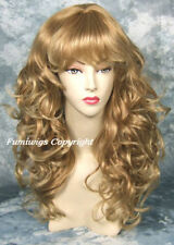 Perruques et toupets blonds longs bouclés pour femme
