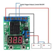 Voltage Detection Charging Discharge Monitor Switch Control Module DC 12V P1XW