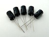 220uF 25V Radial Electrolytic Capacitors 5 pcs UK STOCK