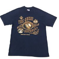 vintage GREAT NORTHWEST Oregon Coast made USA tee shirt LARGE