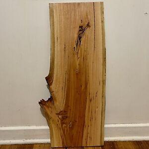 Seasond Fiddleback Red Gum Timber, Wood Slab, Figured Live Edge Wood Blank