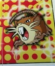 Official Pokemon Nintendo 1999 Vintage Retro Merlin Sticker Number 205 Raticate
