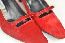 L.K. Bennett Women's Red Pumps Size 38 Italy  size 8 US Career Hide Covered Bow