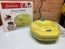 SUNBEAM 5 DONUT ELECTRIC DONUT MAKER MODEL FPSBDML920 YELLOW