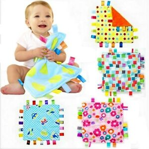 Baby Toddler Kid Child Taggies Brilliant Soothing Soft Plush Blanket Towel Toy
