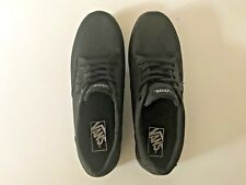 Vans Women's Black Atwood Low Textile Canvas Skate ~ Padded Collar ~ Size 9