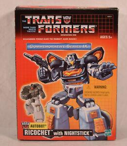 Transformers Commemorative Series Reissue Ricochet with Nightstick CIB