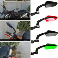 BLACK ANGLED STEADY CNC ALUMINUM MIRRORS FOR MOTORCYCLE CRUISER CHOPPER 8-10MM