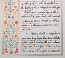 STUNNING !! Hand Painted Manuscript Book. Methodist/Nonconformist. Rev Harcourt