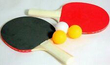 Tischtennisschläger Tischtennis 2 Schläger mit 3 Bällen Schläger set NEU