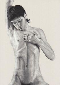 Fine Art Ltd 1/5 Print Drawing Nude Slim Male Gay Interest by Etienne Benassi