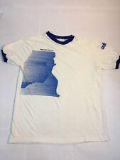 VTG Adidas Ringer T-Shirt Men's S White Rock Marathon Runner 70s 80s Trefoil