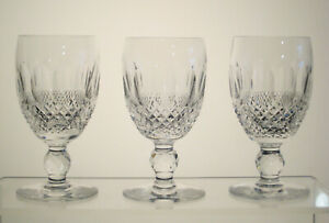 """COLLEEN WATERFORD CRYSTAL White Wine Glasses 4 1/2"""" SET of THREE"""