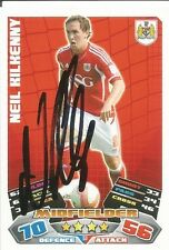 A Topps Match Attax card Neil Kilkenny at Bristol City Personally signed by him.