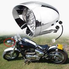 """7"""" LED Retro Motorcycle Bullet Chrome Headlight Light For Harley Bobber Custom"""