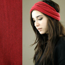 Nepalese Double Wrap Long 100% Cotton Headband Hair Band Hippy Boho Dreads Red