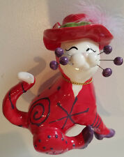 Lacombe 86128 Whimsiclay Red Hat Society Cat Figurine Willitts Designs 2004/2094