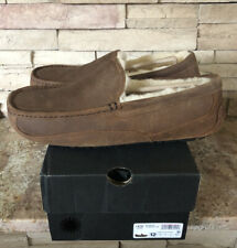 New UGG Men's Size 12 Ascot Moccasin Slipper CHE Chestnut Brown