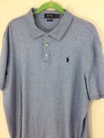 POLO Ralph Lauren Polo Mens XL TG Blue Polo Shirt Cotton Navy Pony