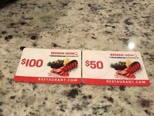 $150 Restaurant.com Gift Card