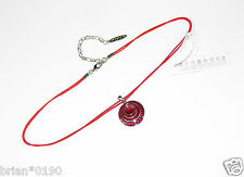 Anna Nova Necklace; Brand New Silver and Red Length Adjustable Necklace