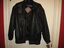 Women's BB DAKOTA black zippered Leather Jacket-size M-two pockets-Basic Coat