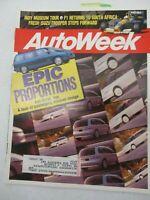 AUTO WEEK MAGAZINE MARCH 9, 1992 ISUZU TROOPER MINIVAN DESIGNS PONTIAC TRANS SPO
