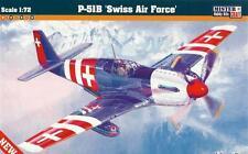 P 51 B Mustang Swiss Af (1 X Swiss & 3 X Usaaf Aces marcas) 1/72 Mastercraft