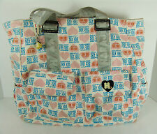 Harajuku Lovers Tote Bag Canvas Hearts Shoulder Large Logo Buckles Pockets