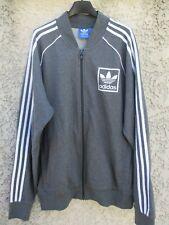 Veste ADIDAS rétro vintage gris TREFOIL sport jacket jacke giacca XL coton