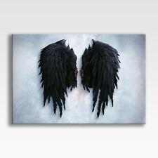 BANKSY BLACK ANGEL WINGS CANVAS Street Graffiti  Poster Print Wall Art