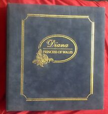 PRINCESS DIANA COMMEMORATIVE ALBUM FIRST DAY COVERS STAMPS COINS POSTCARDS x 67