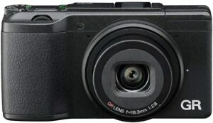 Ricoh GR II 16.2MP Digital Camera - Black and Ricoh GC-6 half case